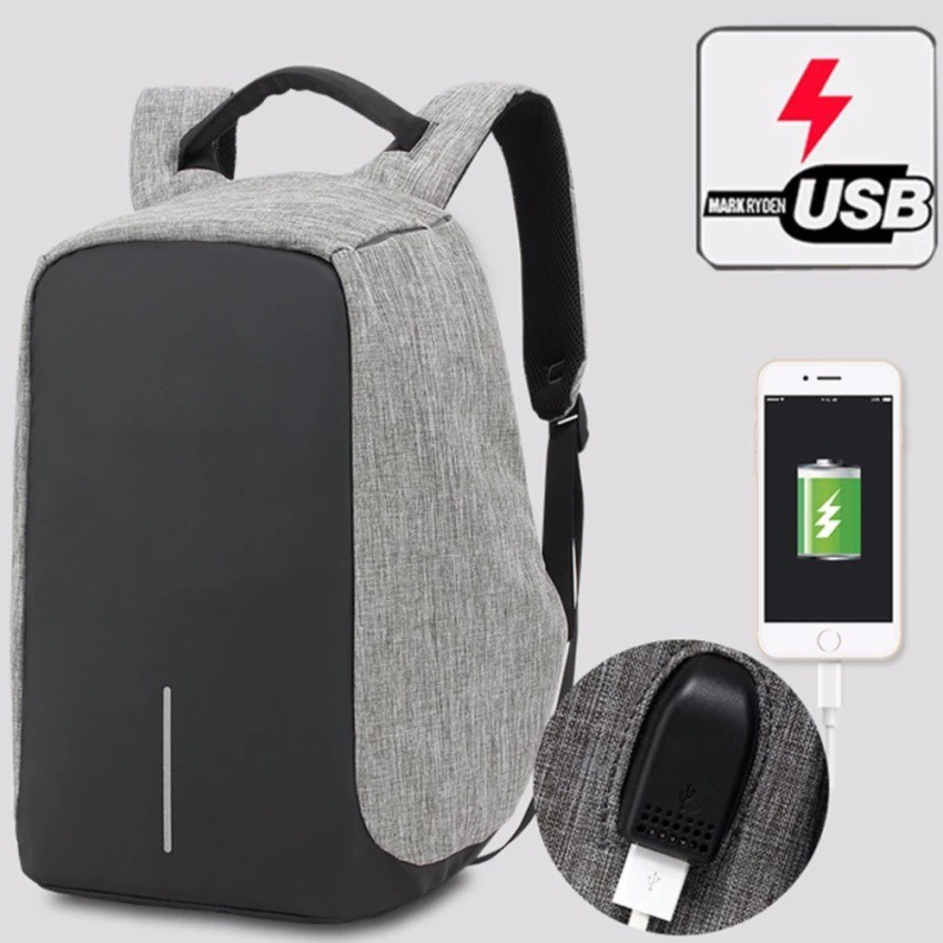 30ce1900c1a7 SAGE Anti-theft Backpacks USB Charging Port Business Travel 15.6inch Laptop  Bag