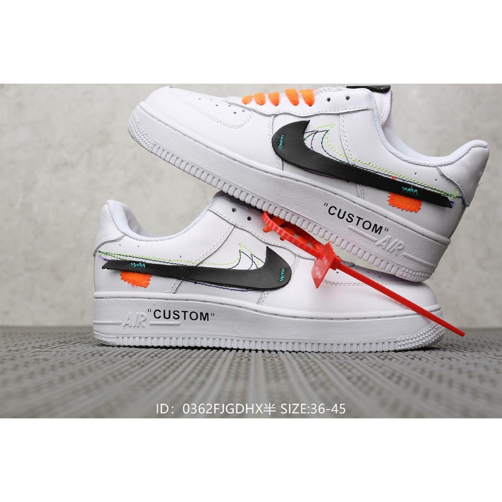 the latest 4922a ed510 Nike The 10 Force 10 OFF-WHite Casual Sneakers Pure White Low Air Force One!