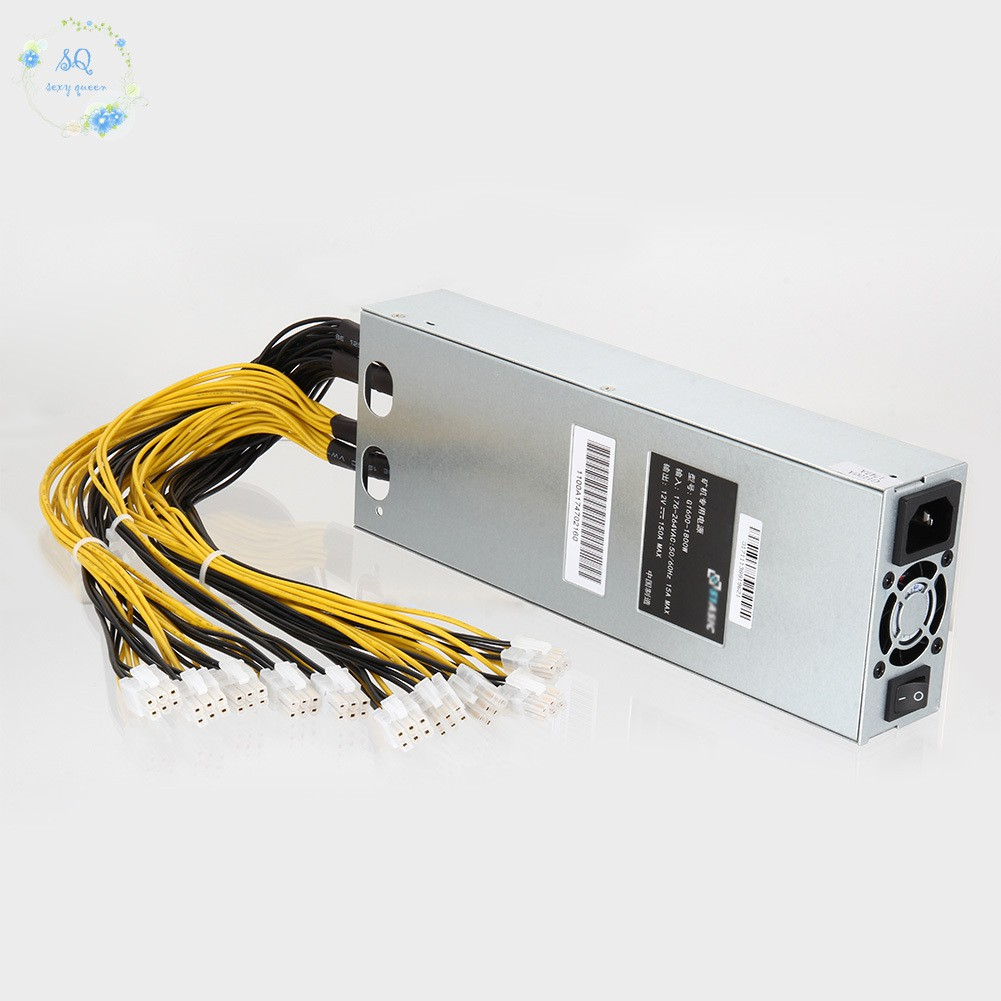 Antminer Power Supply Platinum Mining Machine Power Supply for S9 S7 L3 D3 //1600 W// 10 Connectors
