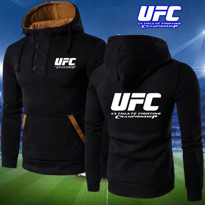 UFC Sweater Men Hoodie Fight MMA Sports Training Jacket Unisex Plus Velvet