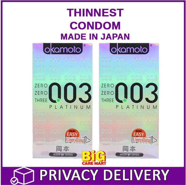 OKAMOTO 003 PLATINUM ULTRA THIN CONDOM 10\\'s X 2box
