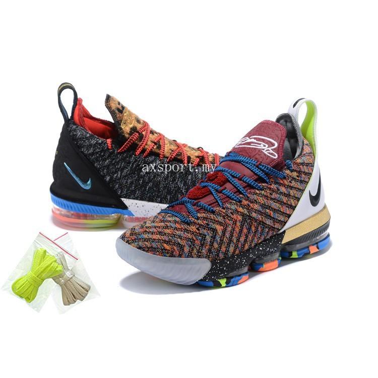 buy popular cebb0 21f44 Ready stock Nike Lebron James 16 LBJ16 Men's Mandarin Duck Basketball shoes