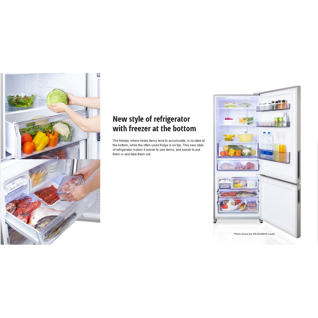 PANASONIC  (NEW MODEL 2020) 407L ECONAVI Inverter 2 Door Refrigerator NR-BX418GKMY - PANASONIC WARRANTY MALAYSIA