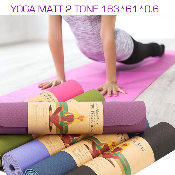 [READY STOCK] Yoga TPE Matt Basic Size 183* 61* 0.6 CM