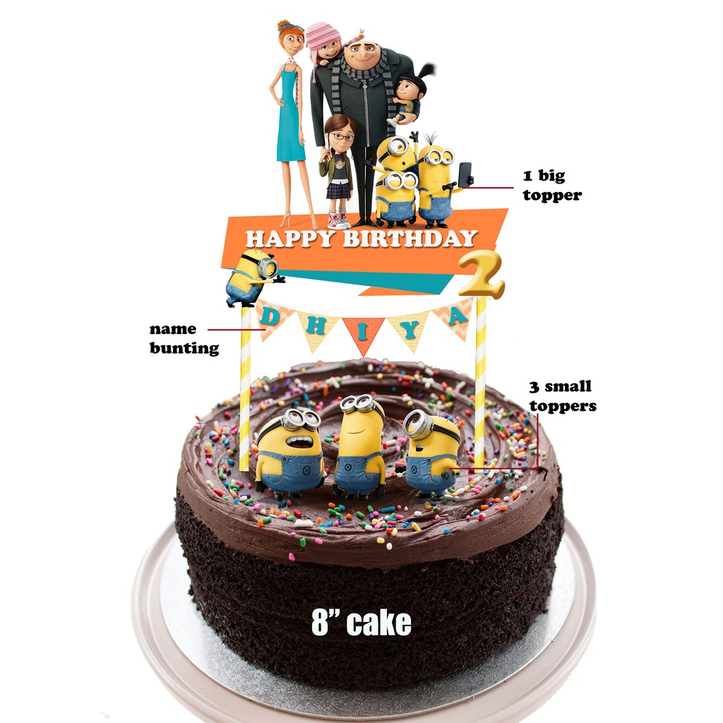 Outstanding Minions Cake Topper Set Of 4 Shopee Malaysia Personalised Birthday Cards Cominlily Jamesorg
