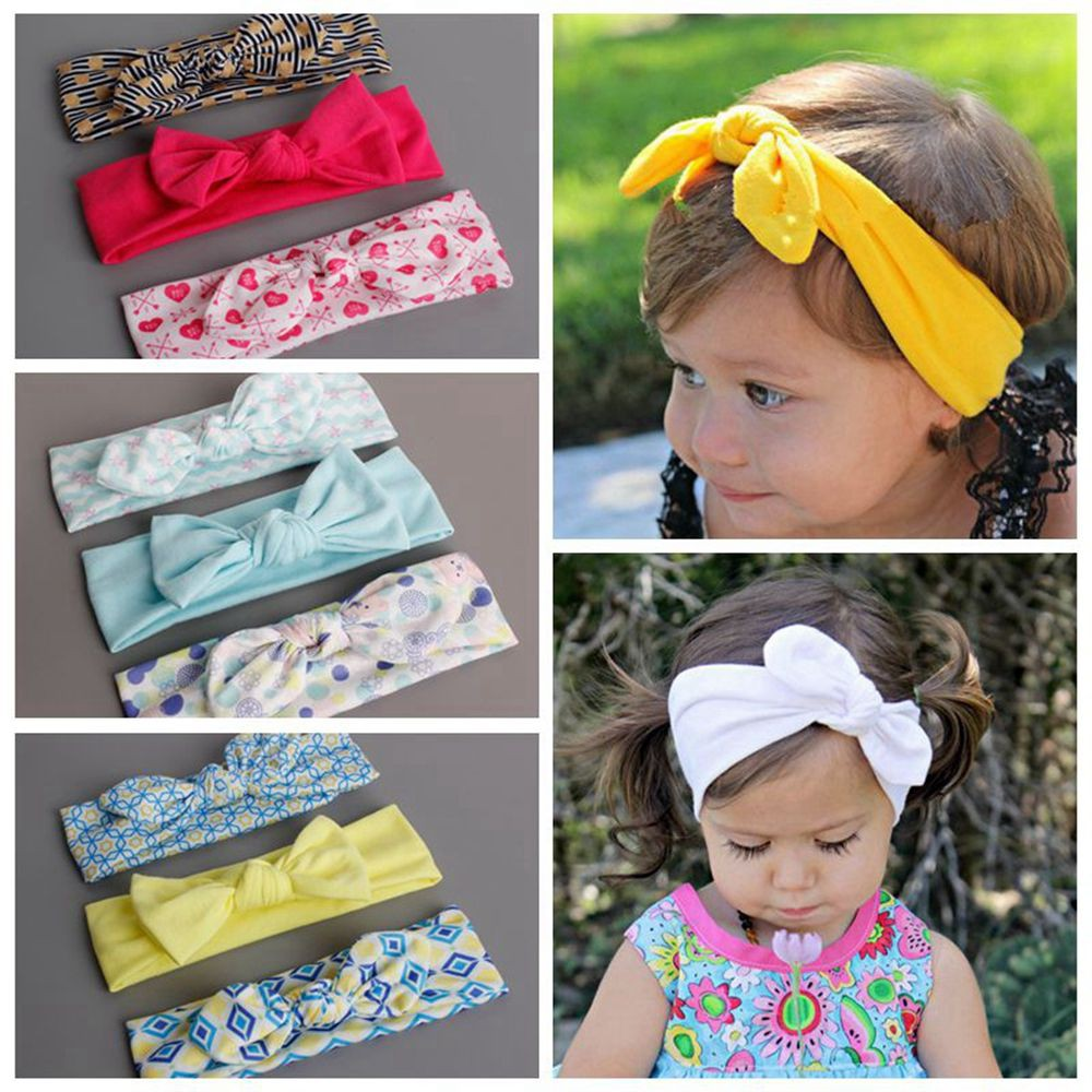Aggressive Baby Toddler Girls Pink Floral Bowknot Hairband Turban Headband A Great Variety Of Models Baby & Toddler Clothing