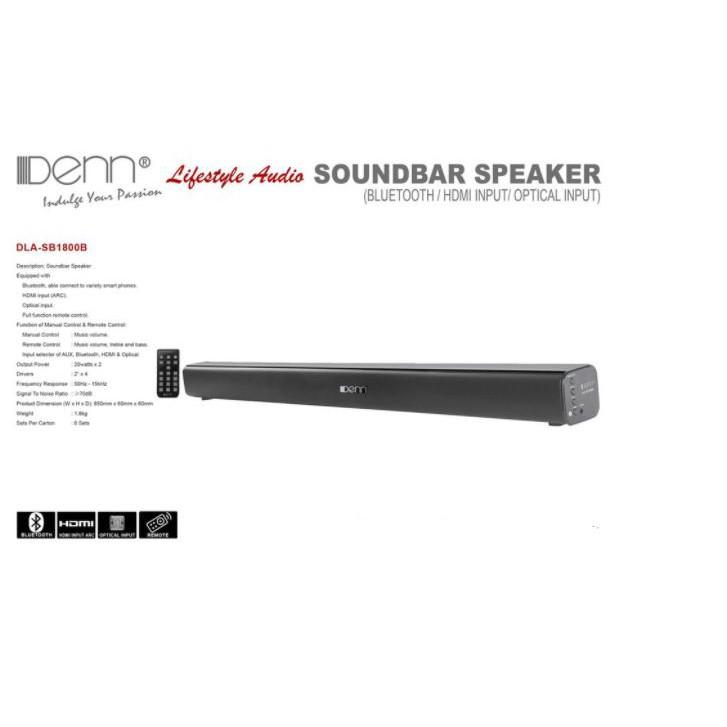 DENN DLA-SB1800B SOUNDBAR SPEAKER