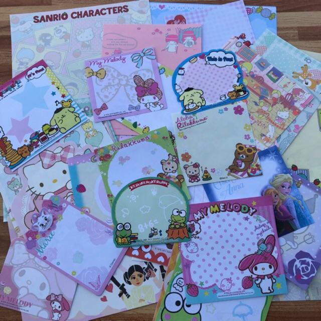 Sanrio San-x กระดาษโน๊ต 52 ลาย (52