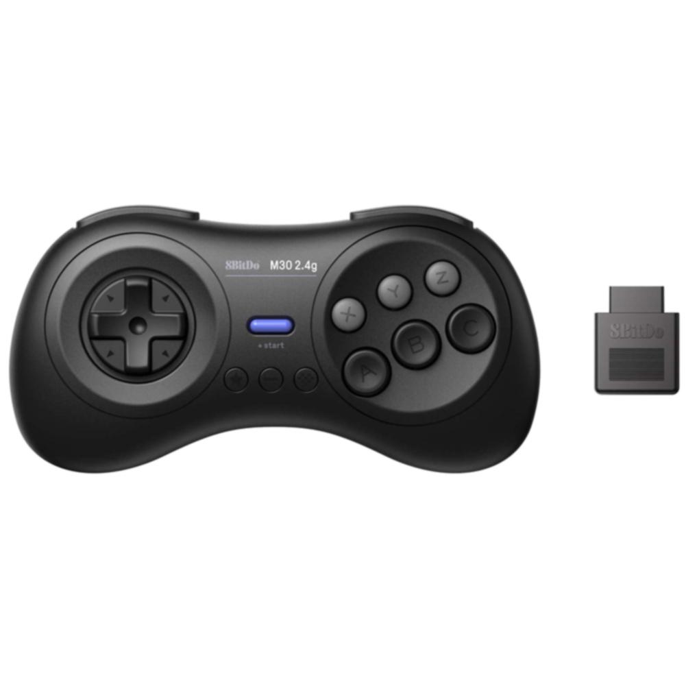 M30 2 4G Gamepad Durable Portable ABS USB Charging Wireless Mini Black For  Sega Mega Drive