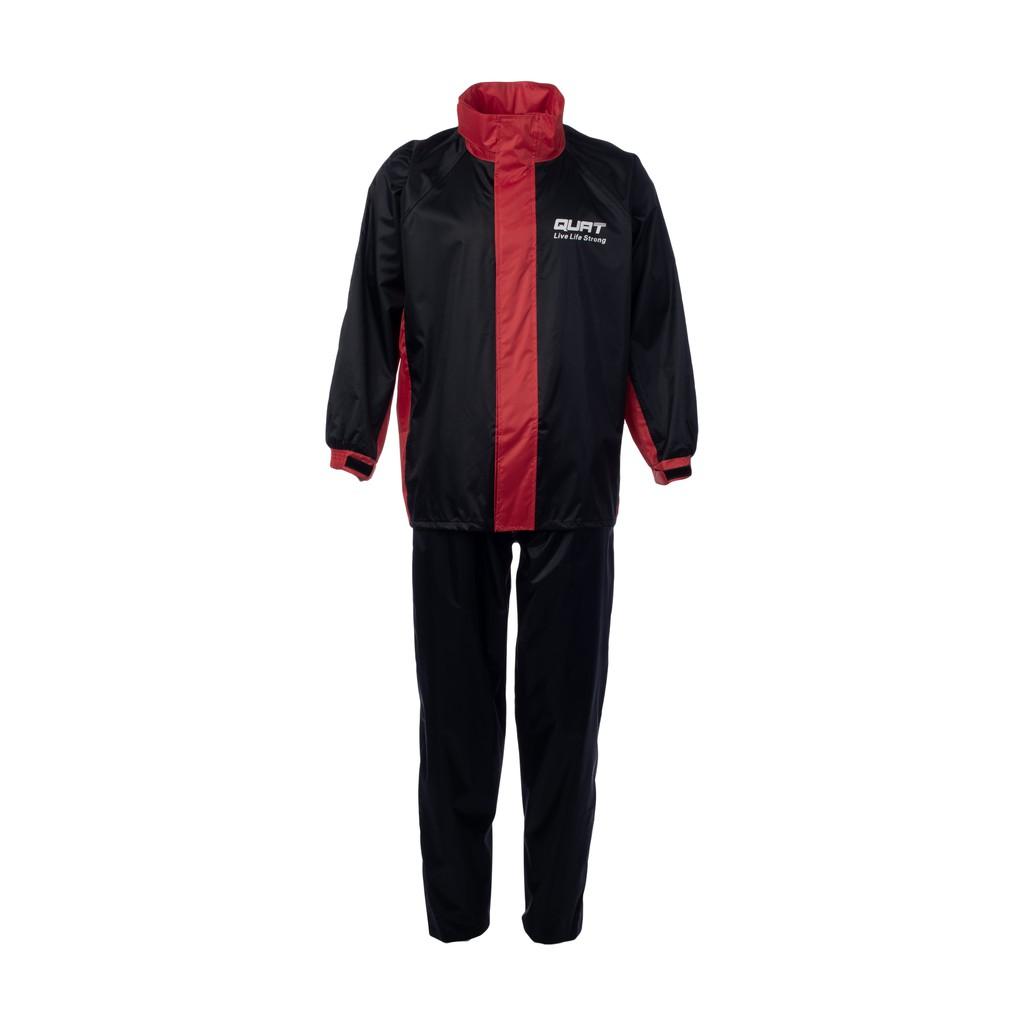 Raincoat QUAT Rain-Suit Q21 RED Motorcycle (Shirt+Pants)