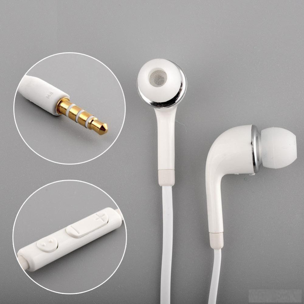 sm J5 Earphone In-ear Sports Earbuds Mic/Volume Control Earphone Handfree hs3303we