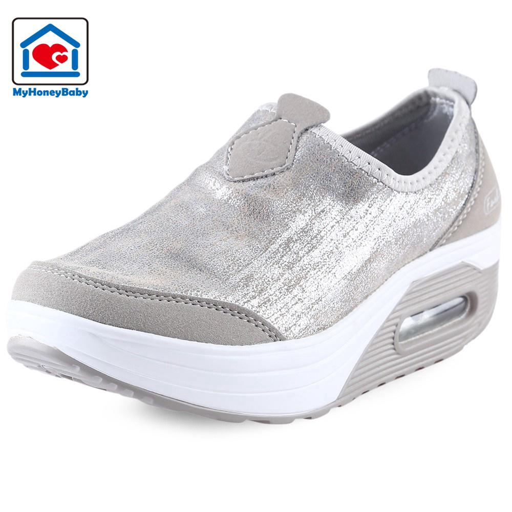 86a56dddbdd3 ... Casual Pearlite Layer Comfortable Slip On Platform Shoes for Women.  like  0