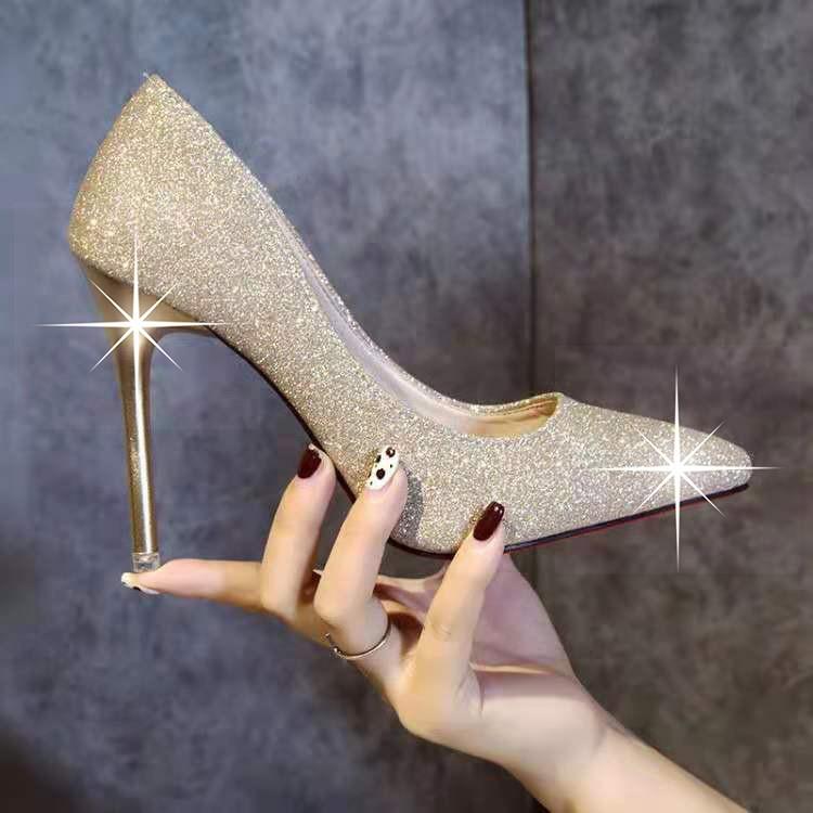 Kasut Kristal Kasut Perkahwinan Wanita Perak Kasut Bertumit Stiletto Kasut Pengantin Merah Kasut Putih Kasut Pengiring P Shopee Malaysia