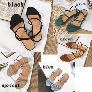 994fa5916fe58 YYJACK Women's flat slippers straps beaded Roman sandals low heel outdoor    Shopee Malaysia