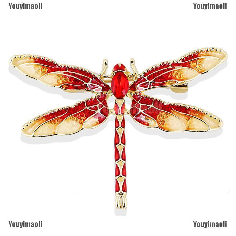 3a633488cf8b5 Babynew Charm Rhinestone Enamel Dragonfly Animal Brooch Pin Women Gift  Jewelry
