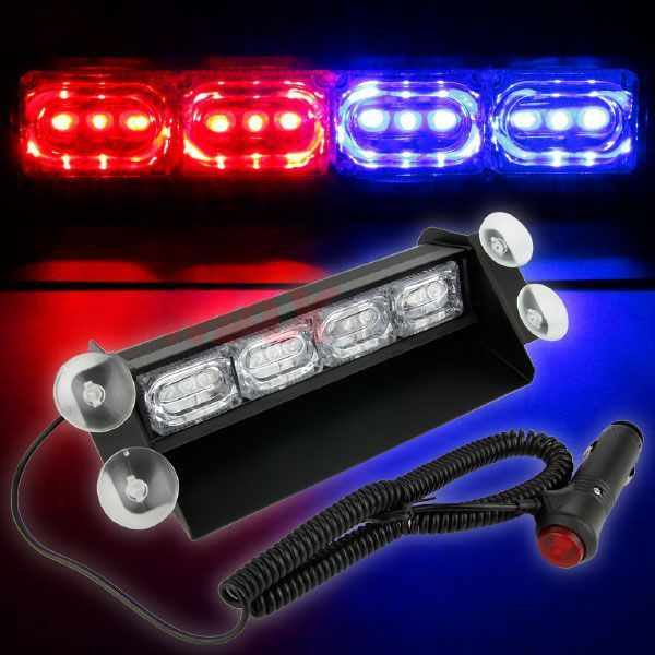 [FREE Gift] [CLEARANCE] Super Bright Lorry Police Car Emergency Warning LED Windshield Flashing Strobe Light
