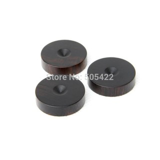 8 Sets 23mm Ebony Wooden Speaker Isolation Wood Stand Foot spikes +