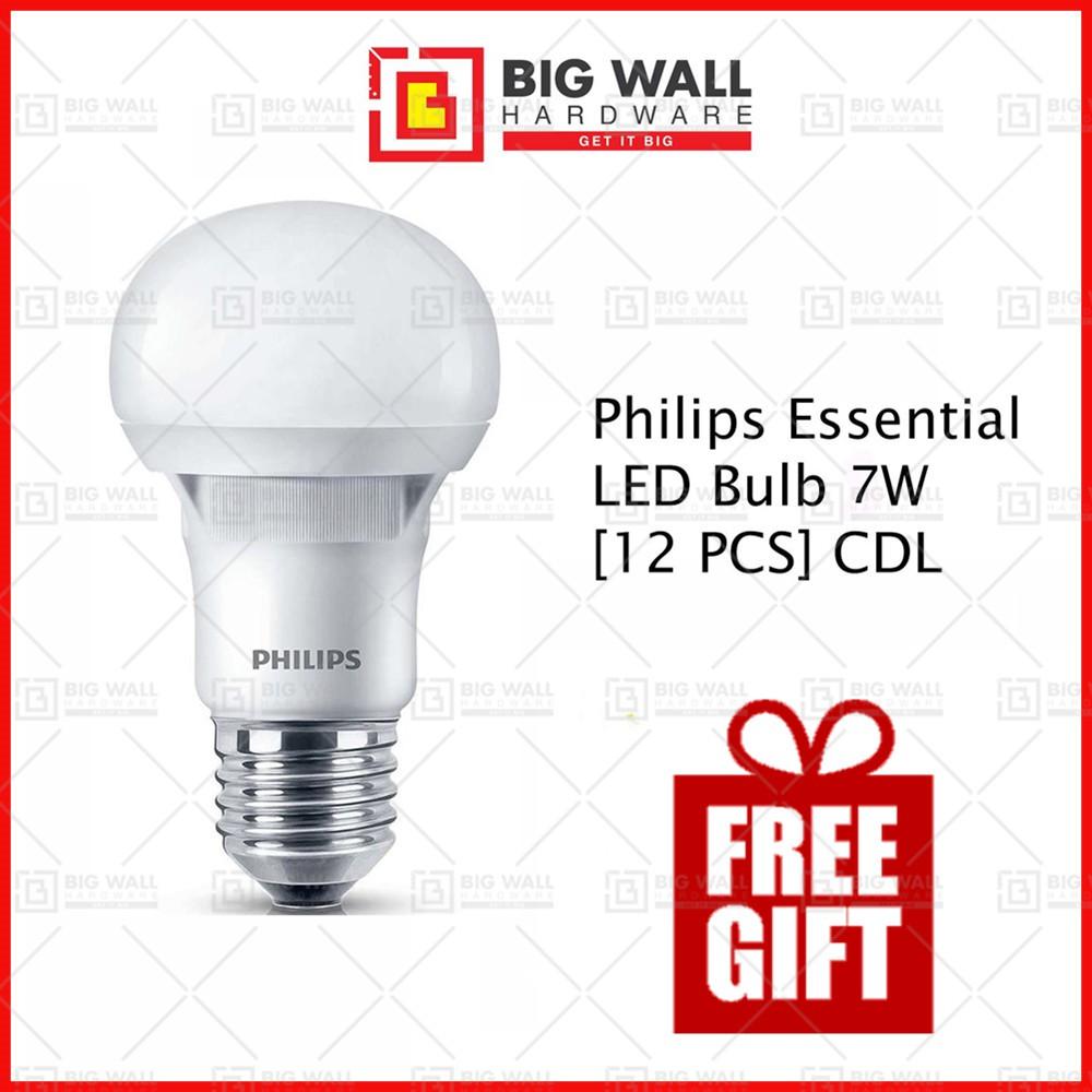 Philips Essential LED Bulb 7W E27 220-240V Cool Daylight (x12 PCs)