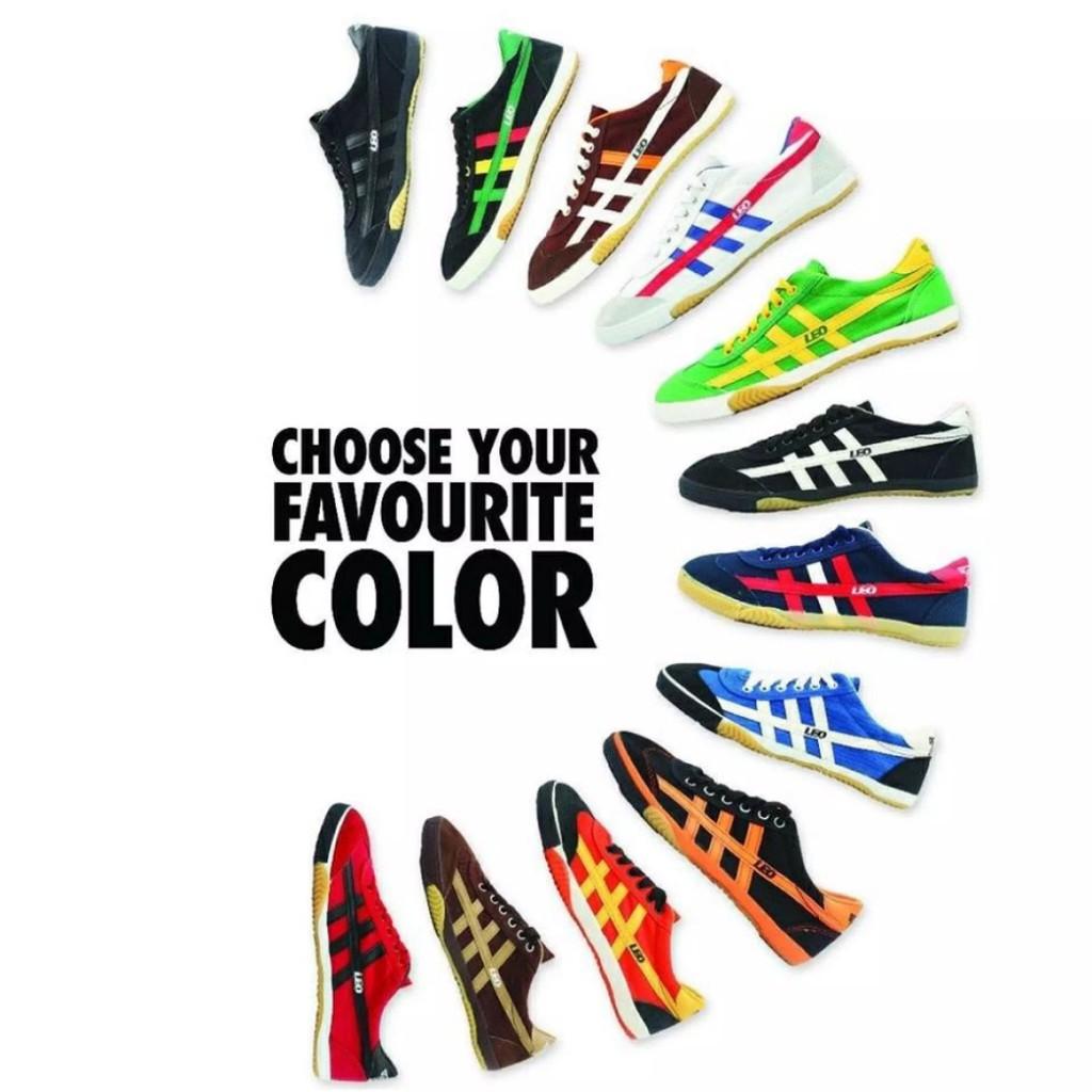 LEO 70's Futsal Shoe   Made in Thailand   Green/Yellow