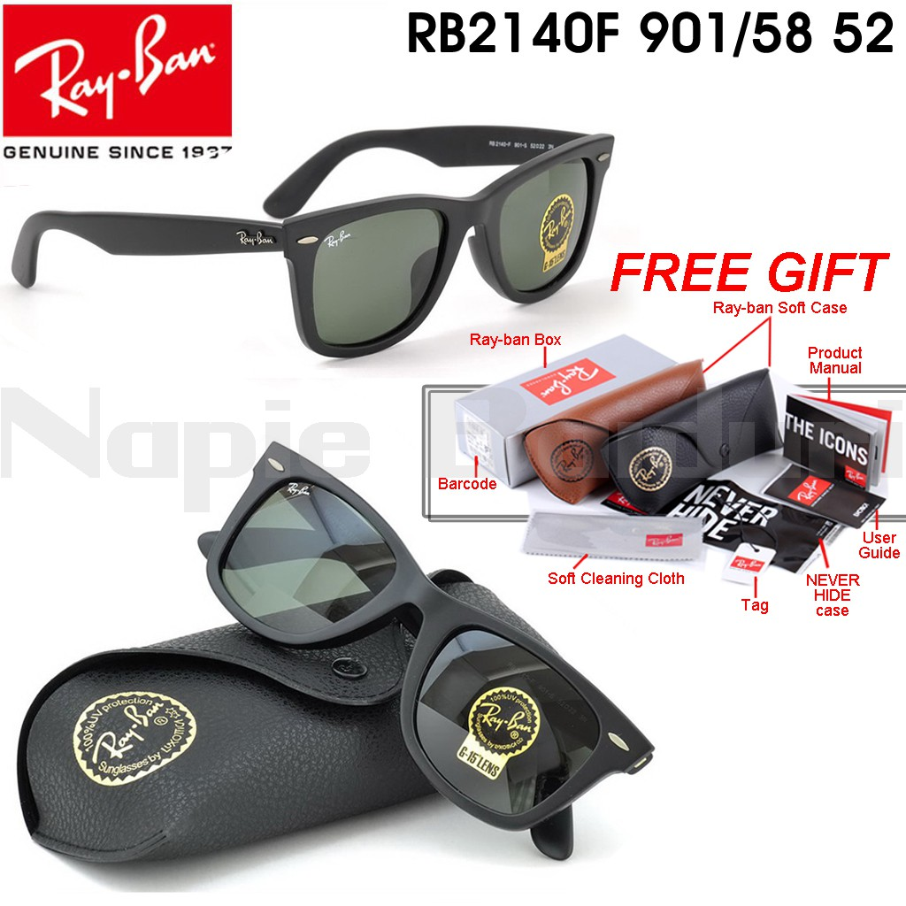 4ed4abe36b Original RayBan Chris RB4187 601 8G Polarised Black Gradient Grey 54mm