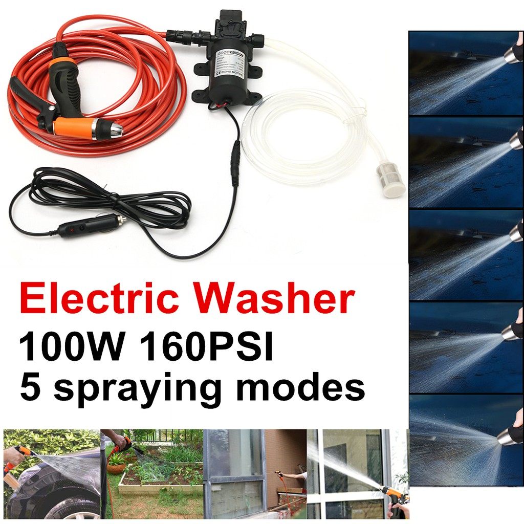👍🔥12V Portable 100W 160PSI High Pressure Car Electric Washer Wash Pump