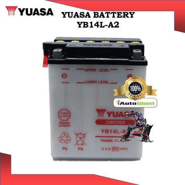 YUASA BATTERY YB 14L-A2 HONDA  CBR1000/ST1300/YAMAHA R1/NV750/KAWASAKI VULCAN/SUZUKI GSX