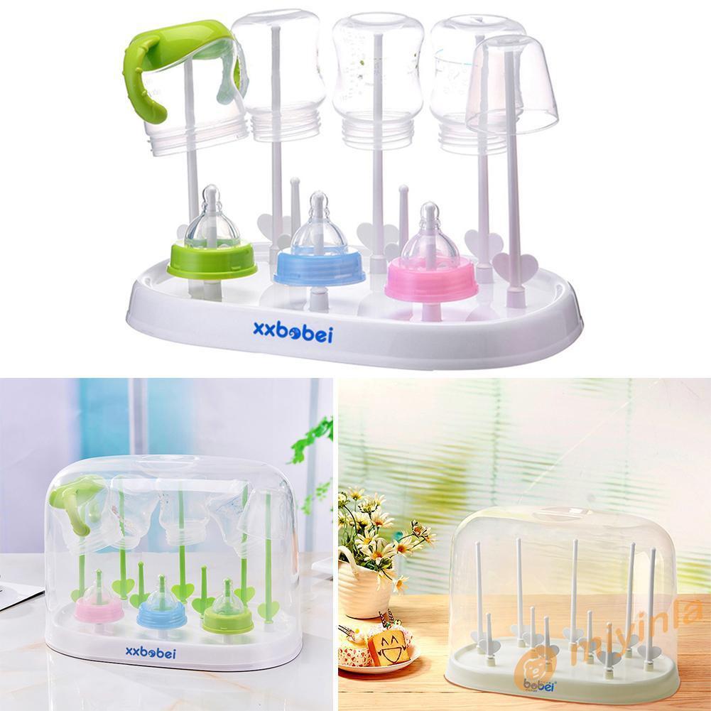.Baby Bottle Drying Rack Dryer Milk Nipple Toddler Sterilise Teats Cups Feeding,