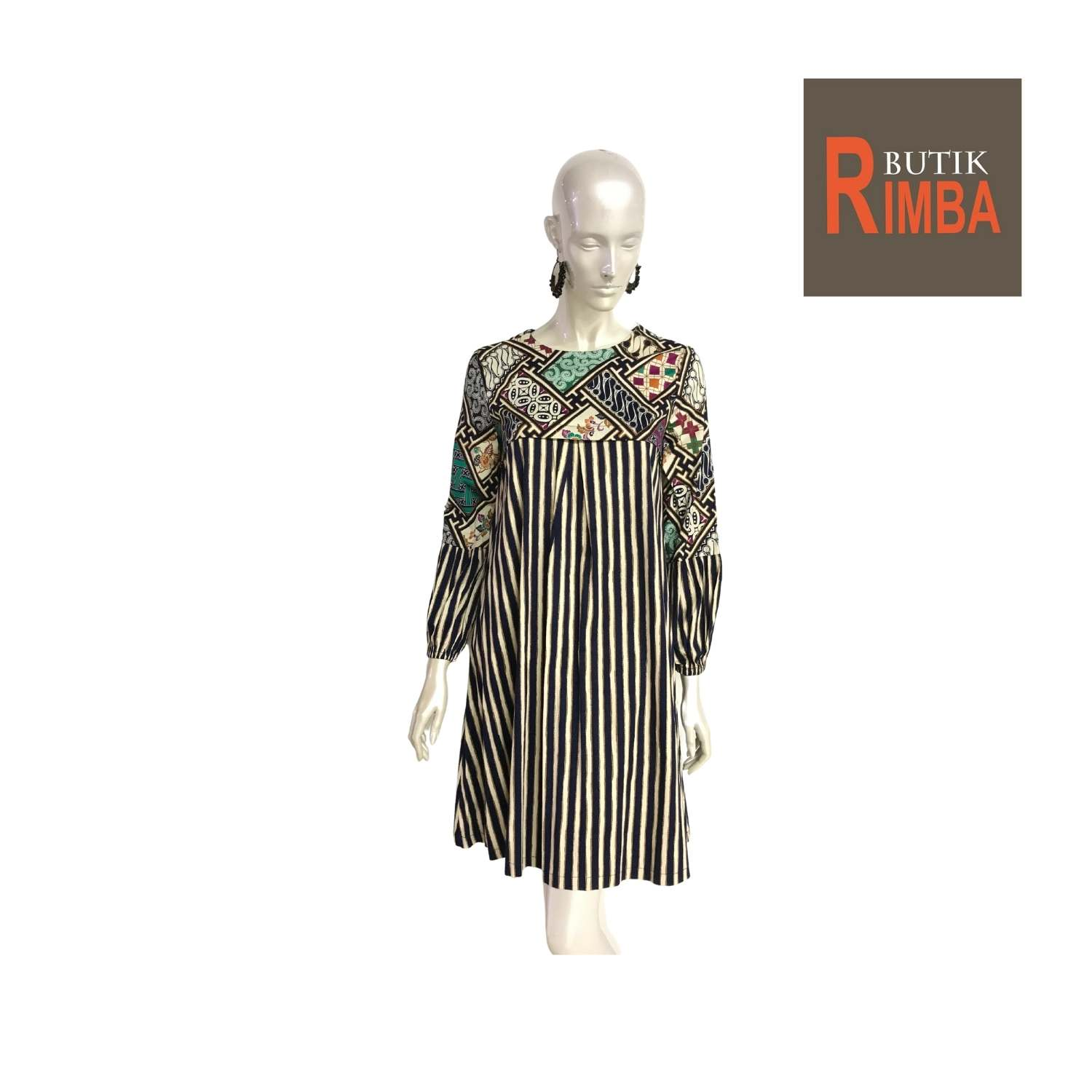 MODERN DRESS BATIK COTTON STRETCHABLE KNEE LENGTH FREE SIZE FOR FASHIONABLE WOMEN IN MIND 06