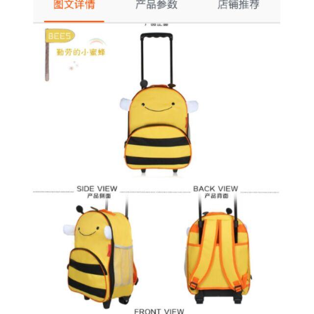 Cute cartoon Animal Trolley Bag kindi primary traveller bag