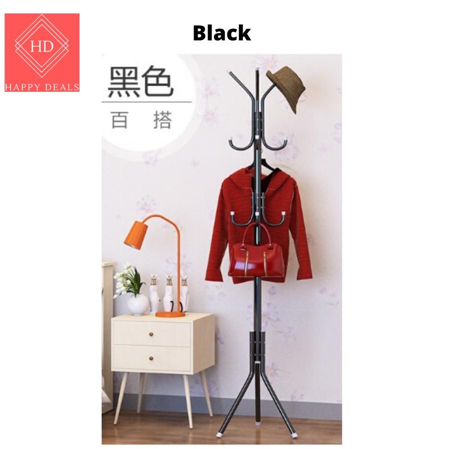 EXTRA SIZE 12 Hooks Standing Clothes Hangers/ Hanging Pole Rack Clothes Hanger/ Standing Hat Hangers/ 12勾站式衣架 站式挂衣架