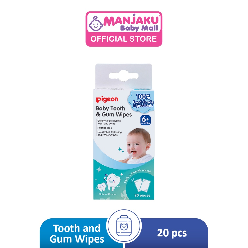 Pigeon Baby Tooth And Gum Wipes Natural (20's)