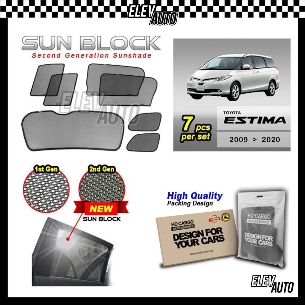 Toyota Estima 2009-2020 SUN BLOCK Premium Magnetic Sunshades
