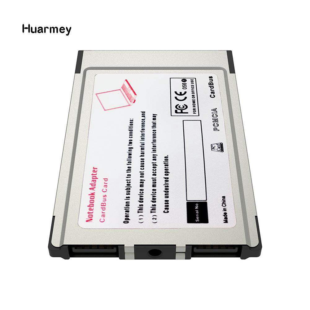 Laptop PCMCIA to USB 2.0 CardBus Converter 2 Ports PCI Express Card Adapter FA
