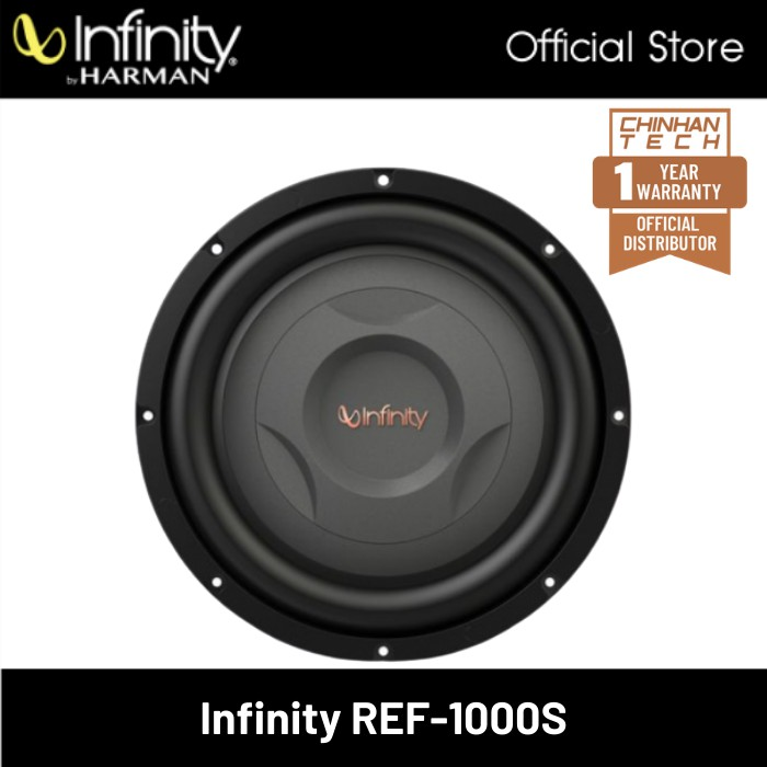 """Infinity  Reference REF-1000S 10"""" Shallow mount Component Subwoofer"""