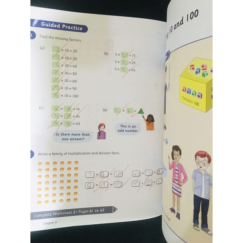 [Used] Primary School Reference Book - think! Mathematics Textbook 4A 4B