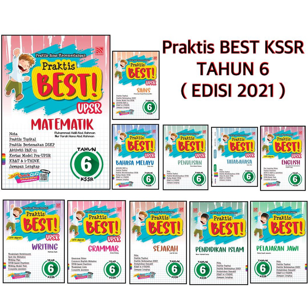[MH] Buku Latihan: Praktis BEST! KSSR Tahun 6 Edisi 2021( 11 Subjek )( Pelangi )
