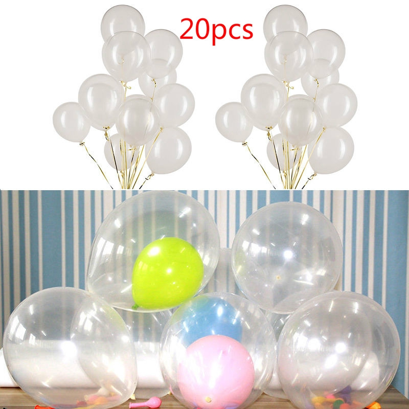 "10/""-36/"" PVC Clear Bubble Balloon Transparent Wedding Party Decor Christmas 2018"