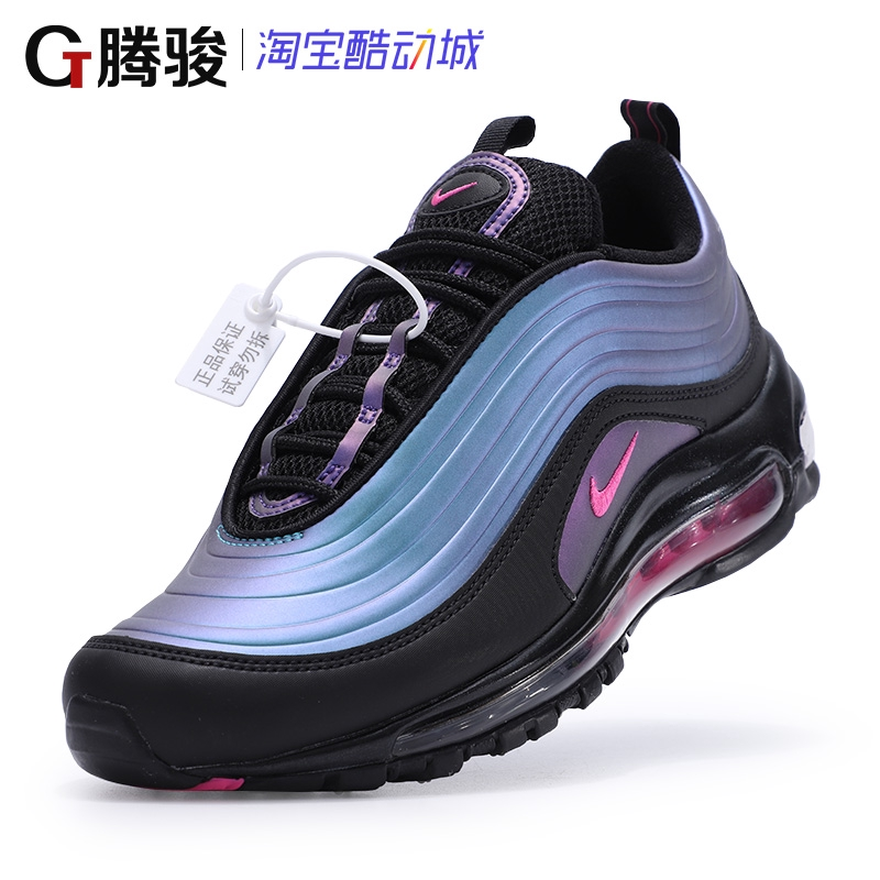 Nike Men's Shoes AIR MAX 97 LX Black Purple Bullet All Palm Men's Atmospheric Pad Running Shoes AV1165 001