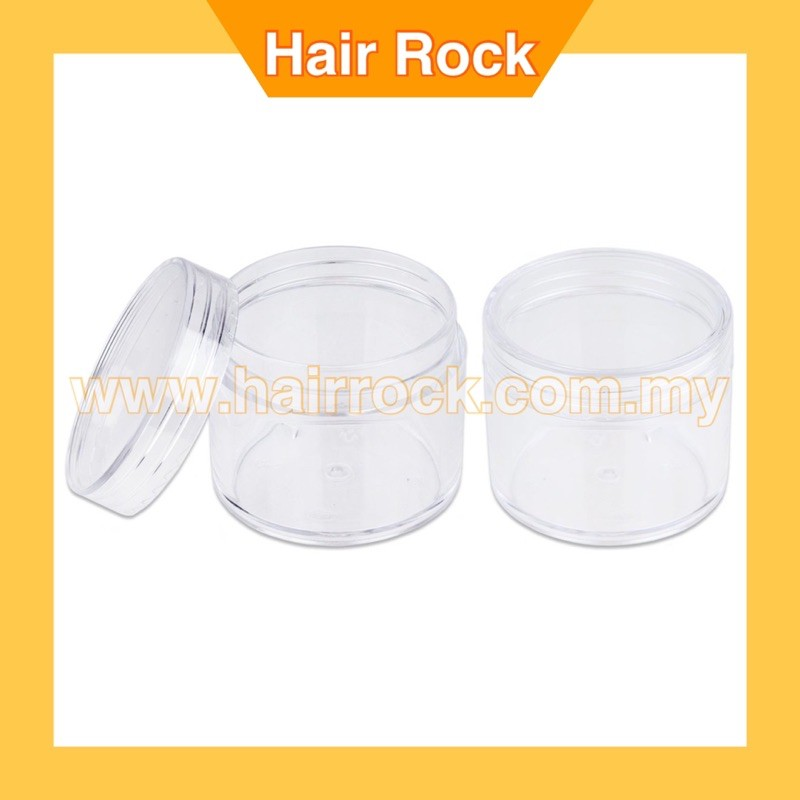3pcs Round Clear Leak Proof Plastic Container Jars with Clear Lids
