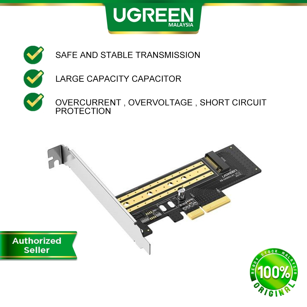 UGREEN 32Gbps M.2 NVME to PCI Express 3.0 x4 Adapter Card Support M2 Key Solid State Drive 4TB Computer Expansion Card