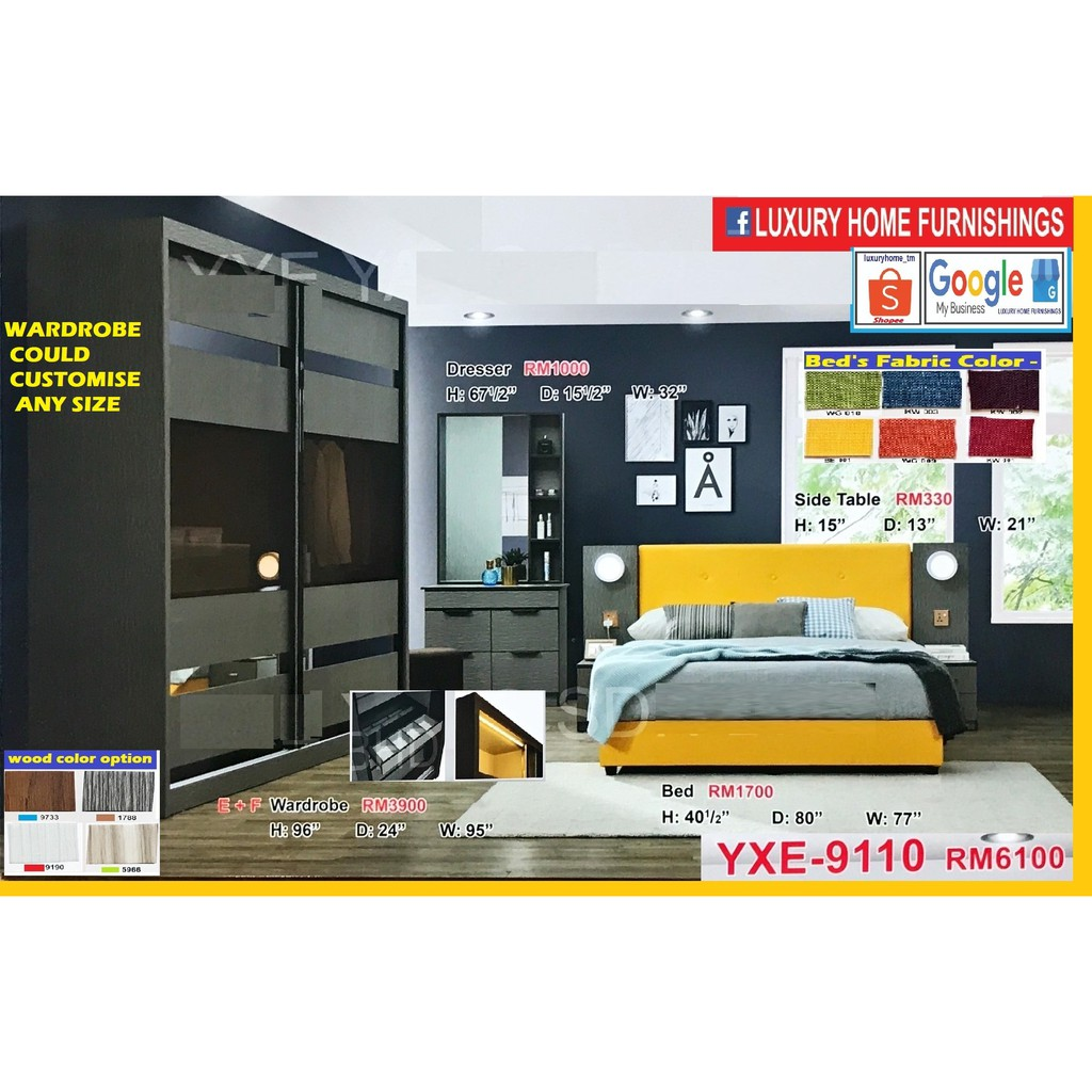 BED ROOM SET, 8'X8' FULL SET, ON THE LAUNCHING SALE, BIG SAVE OFFER