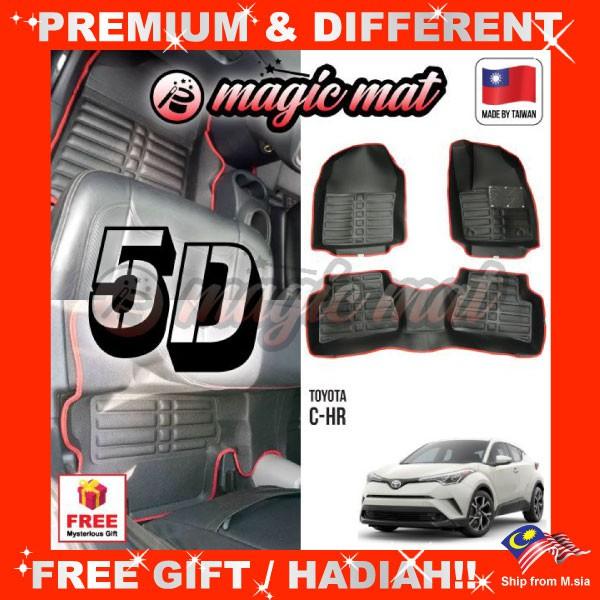 [FREE GIFT Gift] TOYOTA CHR C-HR (5 Seater) MAGIC MAT 5D OEM PU Leather Floor Mat Anti-Slip Easy Clean Carpet