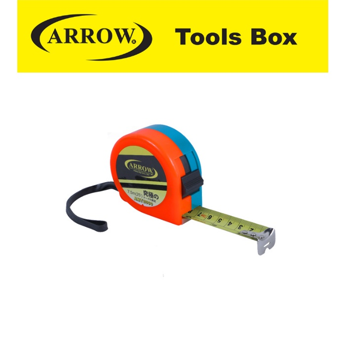 ARROW HIGH QUALITY TAPE MEASURING TAIWAN TECHNOLOGY AMT2000 AMT2050 AMT2035 DUAL COLOR SHELL  HEAVY DUTY MEASURING TAPE