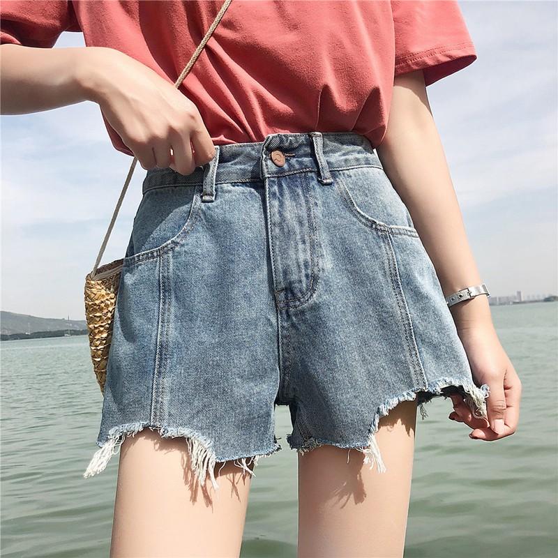 Jean shorts babes