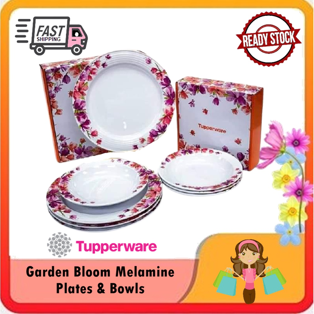 Tupperware Garden Bloom Melamine Plates & Bowls