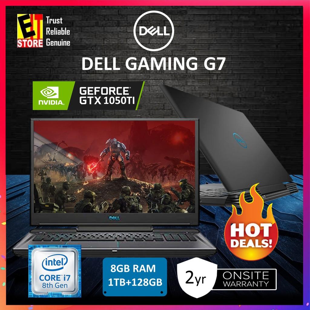 DELL G7-87814GFHD-W10-SSD (I7-8750H/8GB/1TB+128GB SSD/4GB  GTX1050Ti/W10/2YRS)