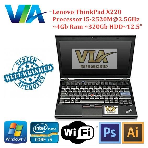 Refurb Lenovo Thinkpad X220 Ultrabook~Core i5~4Gb~320Gb HDD~