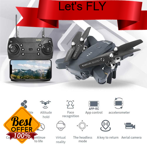 Great Discount HJ30 Foldable RC Drone with Camera 720P 2.4Ghz RC Quadcopter Trajectory Flight Altitude Hold Headless Mo