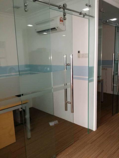 Pintu Bilik Air Kaca Pintu Pejabat Kaca Sliding Door Servis Shopee Malaysia