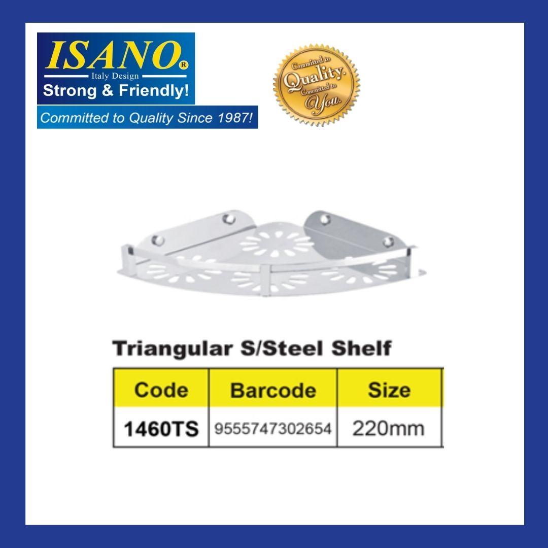 ISANO Triangular Stainless Steel Shelf - 1460TS